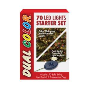 70 Dual Colour LED Christmas Lights Starter Set