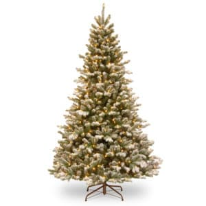 7.5ft Snowy Sheffield Spruce Pre-Lit Artificial Christmas Tree