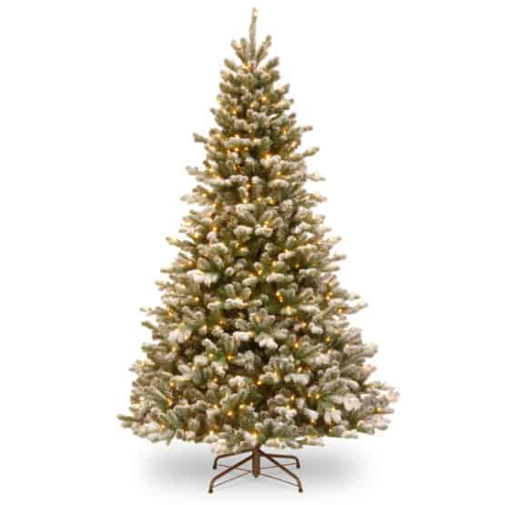 7.5ft Snowy Sheffield Spruce Pre-Lit Artificial Christmas Tree For Sale Dublin Ireland