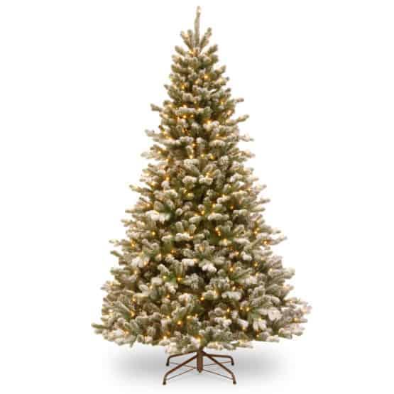 7.5ft Snowy Sheffield Spruce Pre-Lit Artificial Christmas Tree For Sale Dublin Ireland