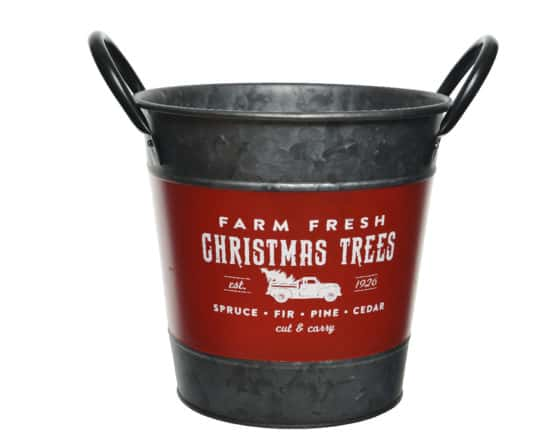 Iron Bucket Christmas Tree Stand Red For Sale Dublin Ireland