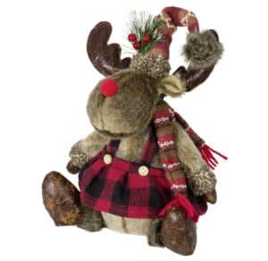 35cm Flannel Skirt Sitting Moose