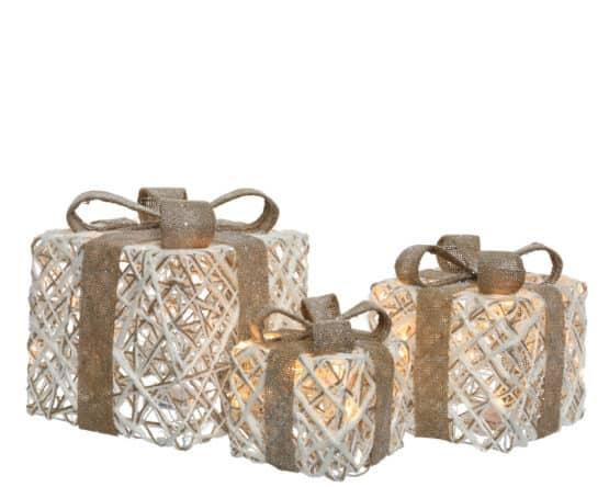 LED Rattan Gift Box Set - Christmas Lights For Sale Dublin Ireland