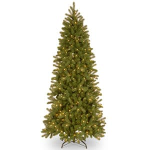 7.5ft Bayberry LED Spruce Slim Artificial Christmas Tree - Artificial Christmas Trees For Sale Dublin Ireland