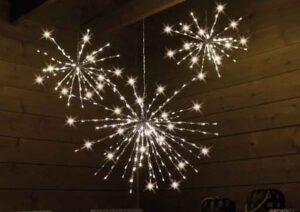 Polestar Silver Flashing LED Christmas Light 70cm