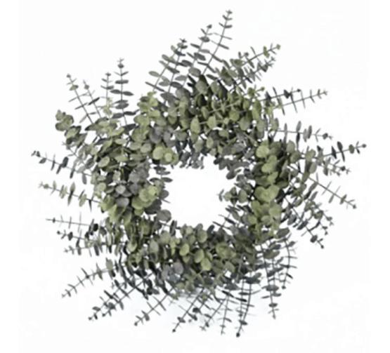 """24"""" ( 60cm) Spiral Eucalyptus Wreath - Christmas Wreaths For Sale Dublin Ireland"""
