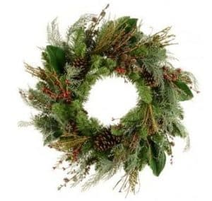 24″ (60cm) Rustic Christmas Wreath