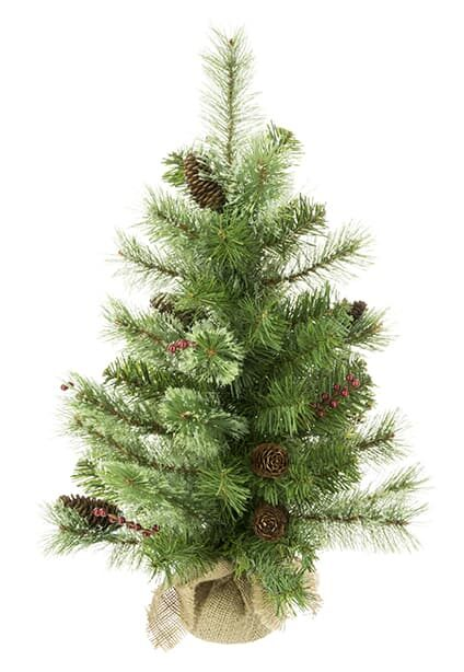 2ft Mini Artificial Christmas Tree With Berries and Pinecones For Sale Dublin Ireland