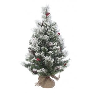 2ft Frosted Mini Artificial Christmas Tree