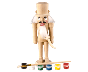 DIY Nutcracker with Brush and Paint 20cm