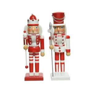Nutcracker Red/White 25cm