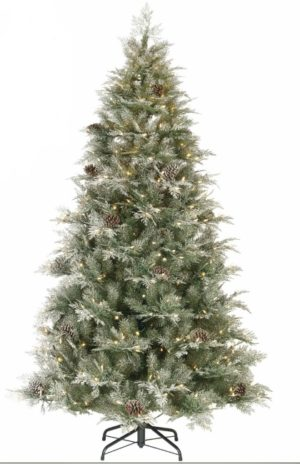 7.5ft Frosted Mountain Spruce Artificial Christmas Tree