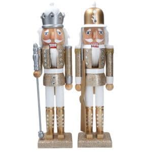 Gold/Silver Wood Nutcracker 37cm