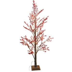 5ft LED Red Berry Artificial Christmas Tree