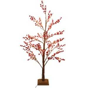 4ft LED Red Berry Artificial Christmas Tree