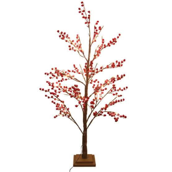 LED Red Berry Artificial Christmas Tree - Xmas Trees For Sale Dublin