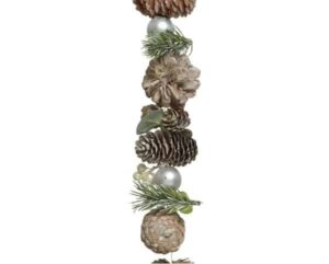 5ft Pinecone Christmas Garland With Pine Leaves