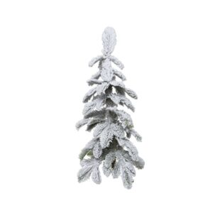 2.5ft Snowy Alpine Mini Artificial Christmas Tree