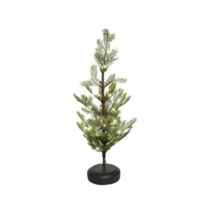 2ft Frost Mini Christmas Tree With LED Lights