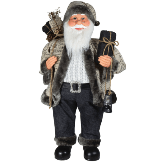 "80cm ""Oskar"" Santa Figurine - Santas and Moose Figures For Sale Dublin"