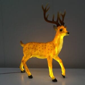 Standing Stag Deer With Warm White LED Lights