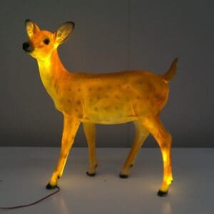 Standing Fawn Deer With Warm White LED Lights