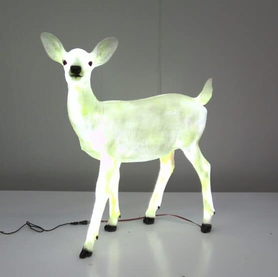 Standing Fawn Deer With Cool White LED Lights - 3D LED Christmas Decorations For Sale Dublin