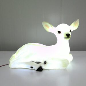 Laying Deer With Cool White LED Lights