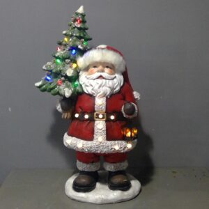 LED Santa With Christmas Tree