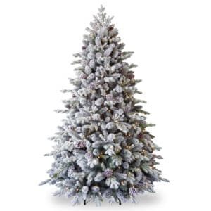 7.5ft Snowy Waterford Pine Pre-Lit Artificial Christmas Tree