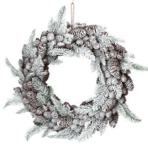 """18"""" (47cm) Snowy Fir Christmas Wreath"""