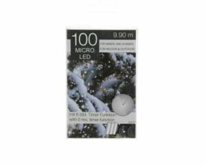 100 Micro LED Chain Battery Christmas Lights