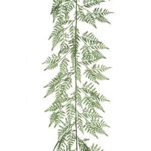 5ft Leather Fern Christmas Garland