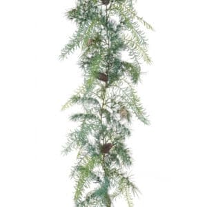 6.5ft Cedar Asparagus Christmas Garland