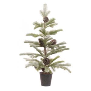 2.5ft Snowy Pine Cone Mini Artificial Christmas Tree