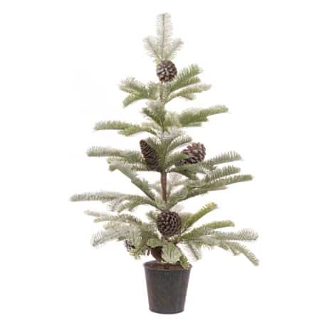 Snowy Pine Cone Tree 76cm - Mini Christmas Tree for sale Dublin