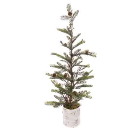 2.5ft Pine Cone Mini Artificial Christmas Tree in Scandi Pot - Mini Xmas Trees For Sale Dublin
