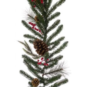 6ft Barholm Berry Pine Christmas Garland