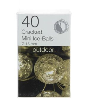 40 Cracked Mini Ice-Balls Christmas Lights String