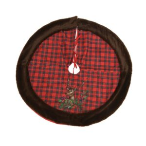 Christmas Tree Skirt With Check Pattern