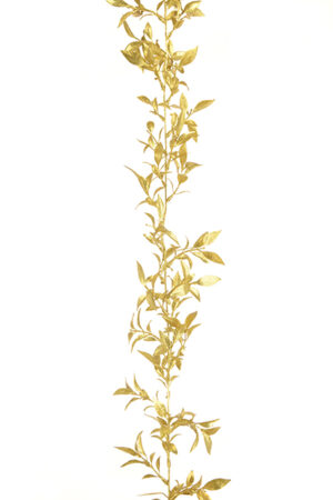 6ft Draping Gold Leaf Spray Christmas Garland