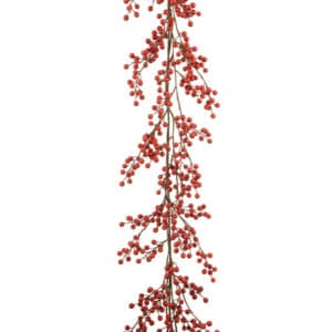 5ft Bright Red Berry Christmas Garland