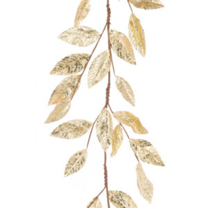6ft Metallic Gold Leaf Christmas Garland