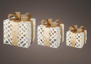 LED Gold Ribbon Gift Box Set