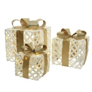 LED Gold Ribbon Gift Box Set