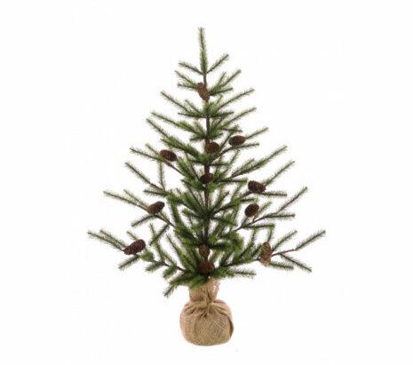 3ft Mini Artificial Christmas Tree In Burlap - Artificial Christmas Trees For Sale Dublin