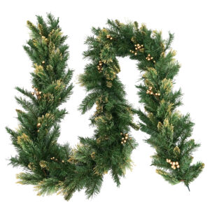 9ft Decorative Collection Christmas Garland With Gold Berries