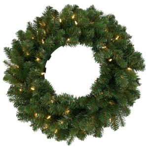 "24"" (60cm) Newberry Spruce Pre-Lit Christmas Wreath *Online Only*"