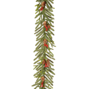 9ft Dorcester Fir Christmas Garland With Berries And Cones