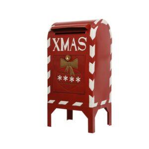 Christmas Zinc Santa Mailbox 41cm